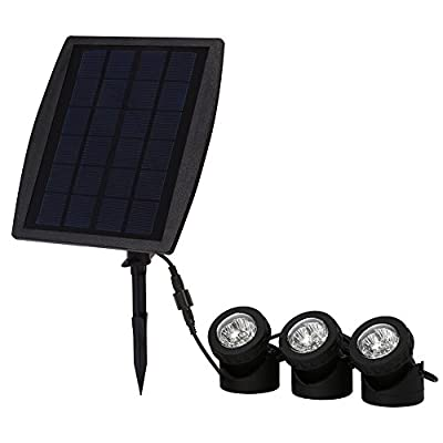 Exlight LED Solar Powered Submersible Outdoor Lamps RGB Color Changing Landscape Ambiance Lighting for Outdoor Garden Pond Pool Underwater Decoration