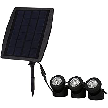 Exlight Submersible Solar Pond Lights, 18 LED RGB Landscape Spotlight Lighting for Outdoor Garden Pool Underwater Decoration