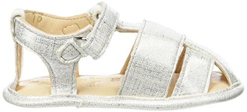 Easy Peasy Nonno Print - Zapatos Bebé-Niños Blanc (Blanc Filament Argent)