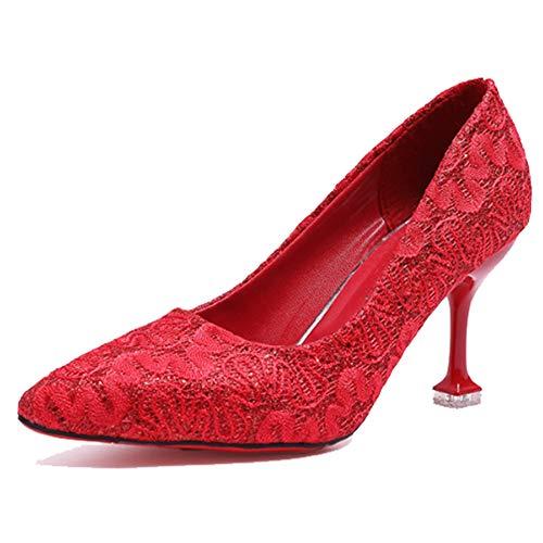 Martin Red Donna Superficiale Bocca Spillo A Femminile Pizzo Moda Scarpe Rosso Boots 2019 Singole Da In Sposa rxfgrwaq