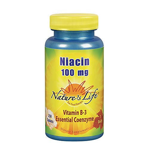 Nature's Life Niacin Tablets, 100 Mg, 250 Count