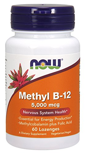 NOW Methyl B-12 5,000 mcg,60 Lozenges
