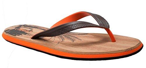 Shaboom Heren Dual Density Comfort String Sandaal Bruin / Oranje