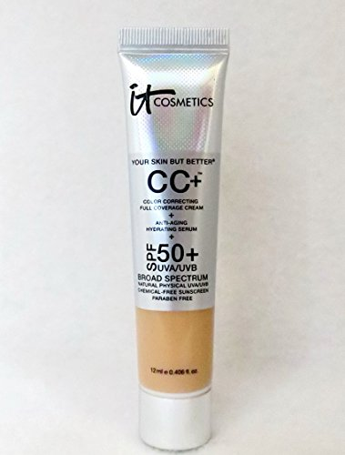 It Cosmetics Your Skin But Better CC Cream with SPF 50 Medium 0.406 Ounce Travel Size