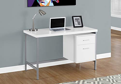 Monarch Specialties Contemporary Laptop Table with Drawer and File Cabinet Home & Office Computer Desk-Metal Legs, 48