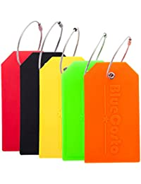 7bb9a5df3e0f 5x Luggage Tags Suitcase Tag Travel Bag Labels w Privacy Cover - Multicolor