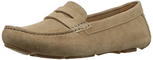 Naturalizer Women's Natasha Penny Loafer, Oatmeal, 7 M - Loafers Suede Naturalizer