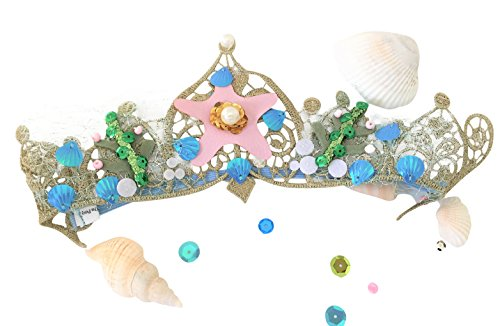 Mermaid Tiara Seashell Crown for Birthday Girl 1st 2nd 3rd 4th 5th 6th for Girls and Women : Headband Party Favors Dress Up for Kids