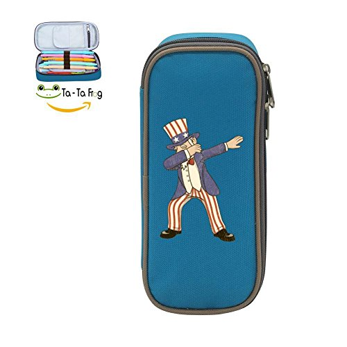- Dabbing Uncle Sam Pen Case - Pen Pencil Case Large Capacity Stationery Box Multi-Function Storage Bag for Children-Blue