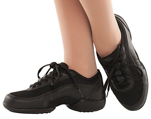Scarpe Da Ballo Danshuz Nere Canvas Dance Jazz Sneaker