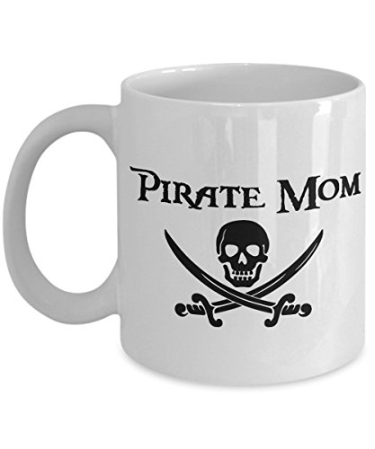 Pirate Mom 11 oz Mug Great Gift for Cruise Night and Fish Extenders (Christmas Wars Album Star 2017)