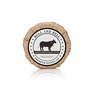 Bull and Bell Premium Supply Co. Shaving Soap Puck Refill, Best Vegan Shave Soap for Sensitive Skin (Classic)