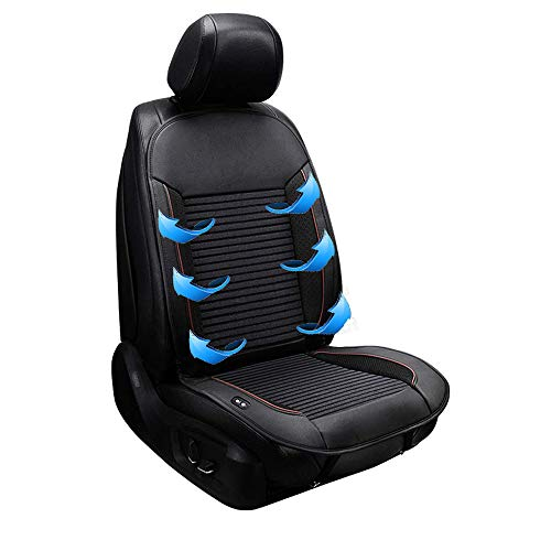 ZBTH Car Seat Cushion,Universal Four Seasons Car Interior Seat Massaging Cool Cushion, Ventilation, Massage, for Car Truck,24V