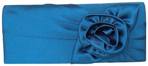 Damen,Handtasche,Abendtasche,Evening Bag,Blau,26x11 cm