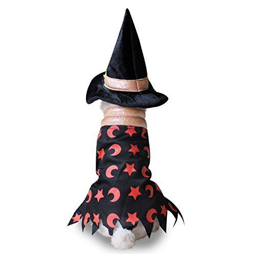 LXLP Dog Customes Outfit for Dogs Clothes Christmas Hallween Day Party Cosplay Apparel for Pets (Black witch sets, S)