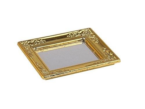Mwaaz 1/12 casa delle bambole specchio con cornice oro (oro)