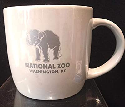 "National Zoo Coffee Mug, National Zoo Elephant Coffee Mug XL, Washington DC View of the World Coffee Cup, Washington DC Souvenir, Washington DC Zoo Souvenir, 3-1/2"" x 3-3/4"""
