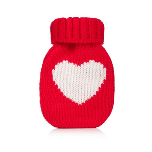 Wrapables Mini Hottie Knitted Hand Warmer w/ Re-usable Hot Pack, Heart Red - Mini Hottie Hand Warmer