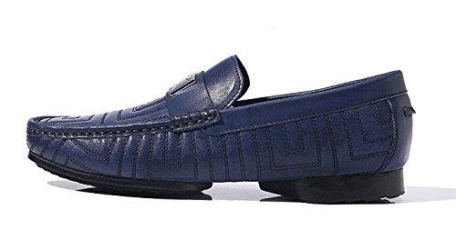 Happyshop (tm) Nieuwe Lederen Slip Op Penny Loafer Heren Autoschoenen Zakelijke Schoenen Blauw