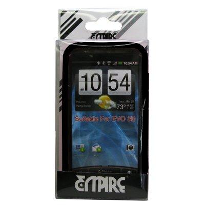 EMPIRE Noir Silicone Skin Case Étui Coque Cover Couverture for Sprint HTC EVO 3D
