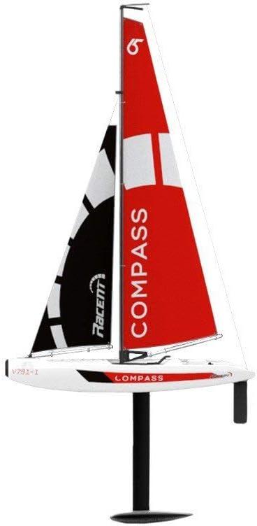 RCTecnic Barco Teledirigido RC Velero Compass RG65 Class Competition 2.4Ghz | Barco Radiocontrol Perfecto para lagos, ríos y piscinas, 650mm
