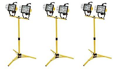 Woods L13 1000-Watt Telescope Worklight, Yellow, 120-Volt (Pack of 3)