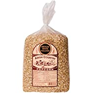 Amish Country Popcorn | 6 LB Medium White Kernels | Old Fashioned, Non GMO, Gluten Free, Microwaveable and Kosher with Recipe Guide (6lb Bag)