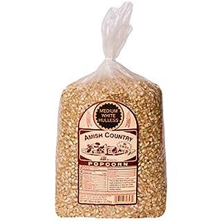 Amish Country Popcorn | 6 lb Bag | Medium White Popcorn Kernels | Old Fashioned with Recipe Guide (Medium White - 6 lb Bag)