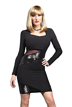 Amazon.com: Suddenly Fem Sequin Dress for Crossdressing and
