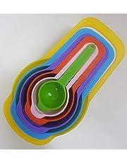 طقم ملاعق بلاستيك للمعيار - 6 قطع متعدد الألوان