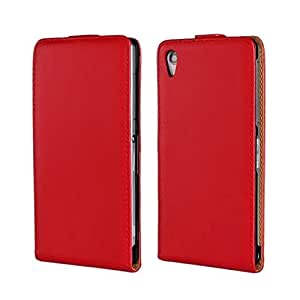 Fadlike Cowskin Flip Leather Pouch Case Cover For Sony Xperia Z2 Red