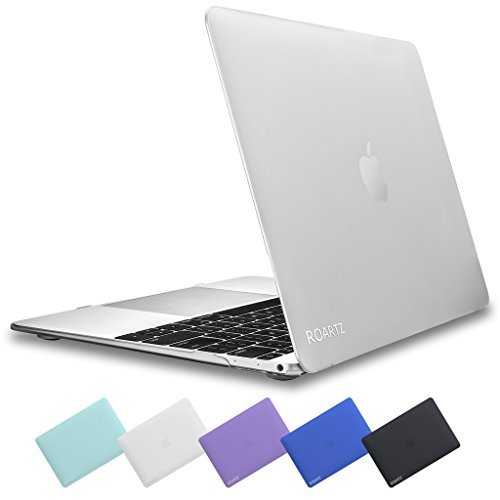 Macbook Retina 12 Case ROARTZ Frost Clear Premium Rubber Coated Non Slip Surface Matte Case Hard Shell Protective Cover For Macbook 12 With Retina Display A1534 (2015 NEWEST VERSION)