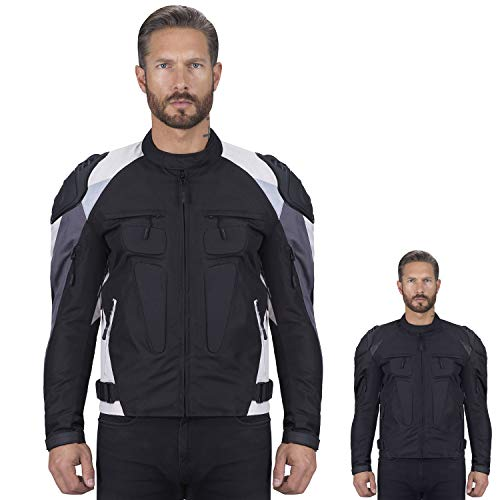 (Viking Cycle Asger Motorcycle Jacket for Men (Medium,)