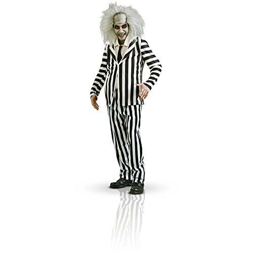 Beetlejuice Costume, Black/White, Medium - Black And White Costume
