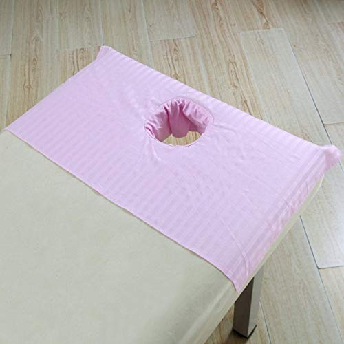 Amazon Best 3-Piece 600 Thread-Count Egyptian Cotton Massage Table Sheet Set - Soft Cotton Facial Bed Cover - Includes Flat and Fitted Sheets with Face Cradle Cover Fabulous Looking Pink Solid Color
