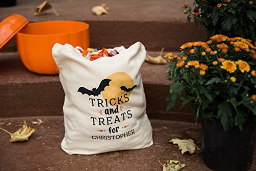 Personalized Halloween Tote Medium Size Trick or Treat Candy Bags 13