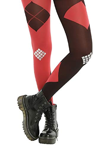 Hot Topic Suicide Squad Black/Red Harley Quinn Tights (M/L) -