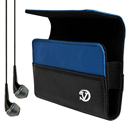 VanGoddy Blue Portola Holster Carrying Case for BLU Win / Advance / Armour / Dash / Life / Neo / Sport / Star / Studio / Tank / Vivo + VG Headphones