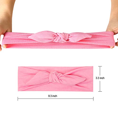 12pcs Solid Color Women Headbands Headwraps Hair Band Cotton Stretchy Turban Bows Accessories for Women Fashion Sport