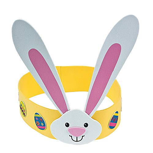 Fun Express - Easter Foam Headband ck for Easter - Craft Kits - Apparel Craft Kits - Misc Apparel Craft Kits - Easter - 12 Pieces