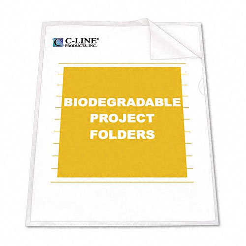 C-Line : Biodegradable Project Folders, Polypropylene, Letter Size, 25/box -:- Sold as 2 Packs of - 25 - / - Total of 50 Each