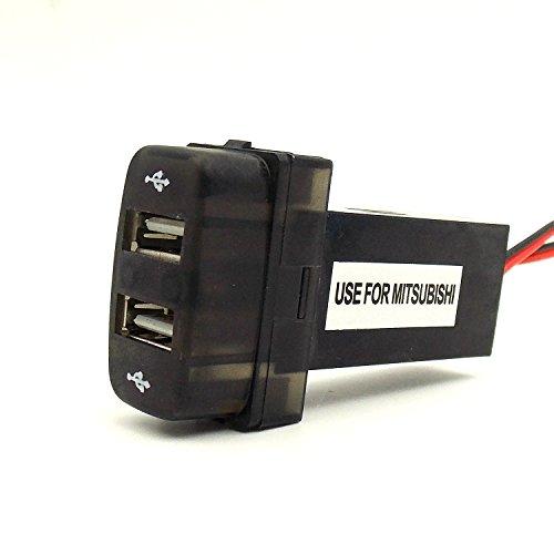 special-21a-12a-2xusb-interface-socket-smart-phone-iphone-ipad-gps-car-charger-use-for-mitsubishiasx