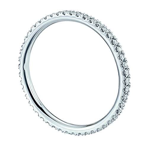 Bague avec diamant serti de micro en or blanc-Diamants 1/3carat