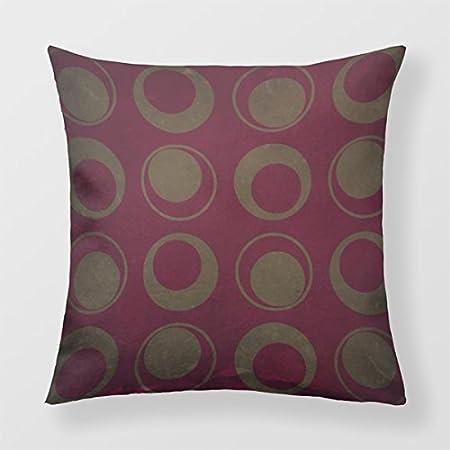 Lightinglife Decorative Pillow Home Retro Throw Cushion For Sofa Red Burgundy 18 Cushion Cover xdq