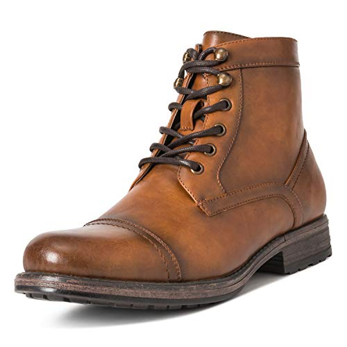 Mens Queensbery Albert Office Smart Work Business Leather Ankle Boots - Brown - EU44/US11 - QB0019 - Leather Formal Ankle Boot