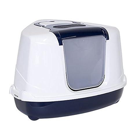 Moderna Bandeja Sanitaria Cubierta Rinconera para Gato - Sanitario Toilet - Flip Corner- Color Azul: Amazon.es: Productos para mascotas