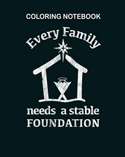 Coloring Book: christian jesus birth manger true christmas story 54 pages - 8 x 10 inches