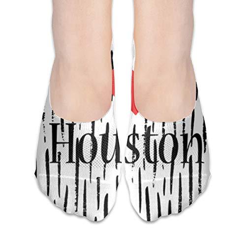 Houston Heart Womens Liner Socks Low Cut No Slip Ankle No Show Socks]()