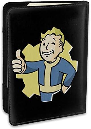 Fallout 4 Game Of The Year Edition フォールアウト パスポートケース メンズ レディース パスポートカバー パスポートバッグ ポーチ 6.5インチ PUレザー スキミング防止 安全な海外旅行用 収納ポケット 名刺 クレジットカード 航空券