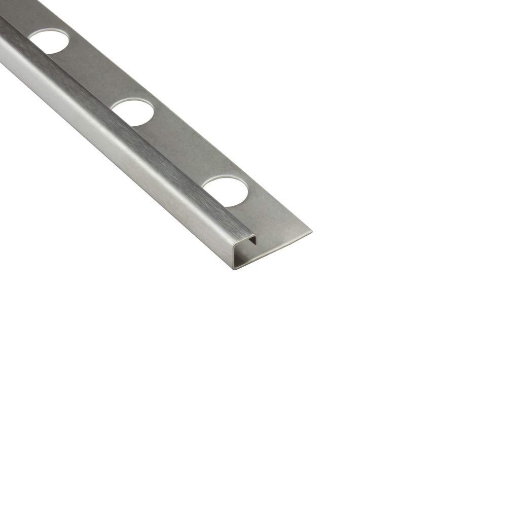 5x Quadro Edelstahlschiene Fliesenprofil Fliesenschiene L250cm 8mm geb/ürstet